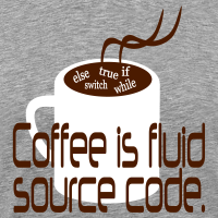 "Nerd T-Shirts mit ""Coffee is source code"""