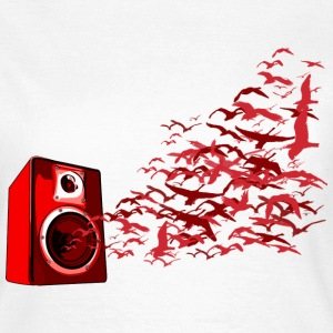 White Speaker Birds DJ Women's T-Shirts - Women's T-Shirt