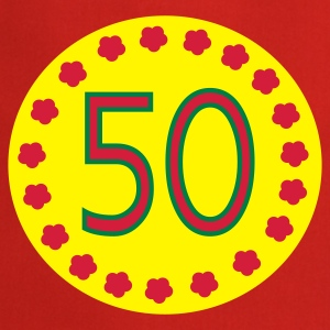 Red 50th birthday  Aprons - Cooking Apron