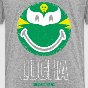 SmileyWorld Green Luchador - Teenage Premium T-Shirt