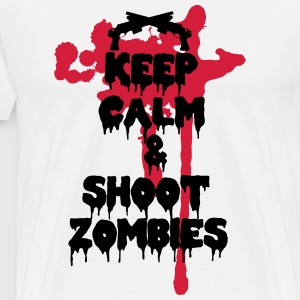 Keep calm and shoot zombies - Camiseta premium hombre