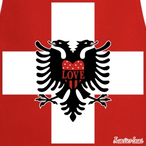 Schweiz Albanien LOVE, Francisco Evans ™  Aprons - Cooking Apron