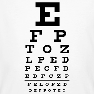 :: eye chart :-: - Men's Organic T-shirt