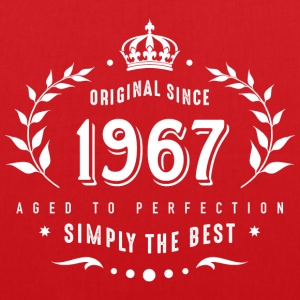 original since 1967 simply the best 50th birthday - Stoffbeutel