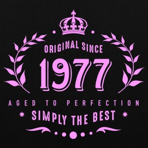 original since 1977 simply the best 40th birthday - Stoffbeutel