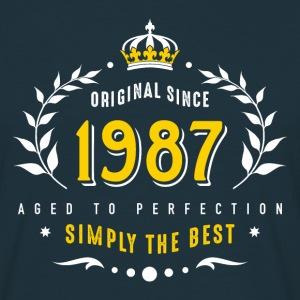 original since 1987 simply the best 30th birthday - Männer T-Shirt
