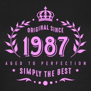 original since 1987 simply the best 30th birthday - Frauen T-Shirt