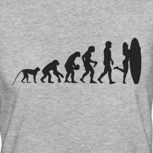 Evolution Surf T-Shirts - Frauen Bio-T-Shirt