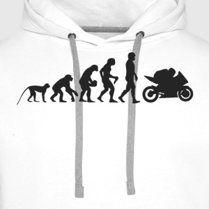 Moto Evolution Sweat-shirts - Sweat-shirt à capuche Premium pour hommes