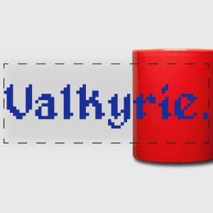 8 Bit Valkyrie Gamer Mugs & Drinkware - Full Color Panoramic Mug