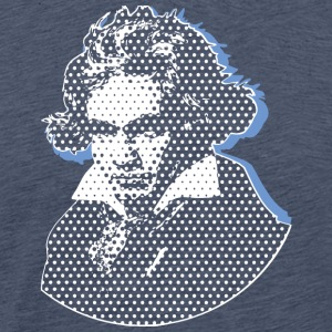 Beethoven in Dots - Black+Dark Shirts Edition T-Shirts - Männer Premium T-Shirt