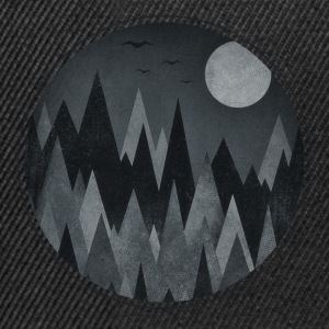 Dark Triangles - Abstract Halloween Mountains Caps & Mützen - Snapback Cap