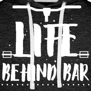 Life behind bar/bicycle Hoodies & Sweatshirts - Men's Premium Hoodie