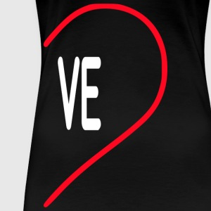 Herz VE LOVE T-Shirts - Frauen Premium T-Shirt
