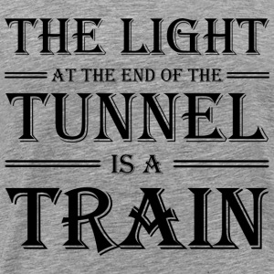 The light at the end of the tunnel is a train T-skjorter - Premium T-skjorte for menn