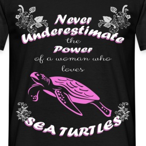 Never Underestimate the power of a woman who loves - Men's T-Shirt