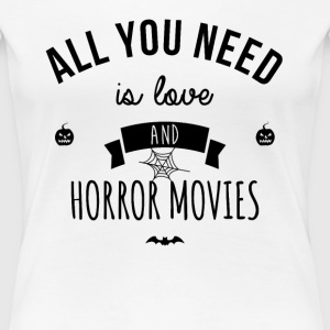 Love and horror movies - T-shirt Premium Femme