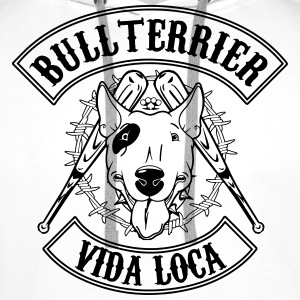 bullterrier vida loca Sweat-shirts - Sweat-shirt à capuche Premium pour hommes