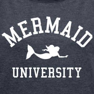 Mermaid University T-skjorter - T-skjorte med rulleermer for kvinner