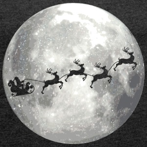 full moon xmas vollmond T-Shirts - Frauen T-Shirt mit gerollten Ärmeln