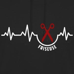 Heartbeat-Friseuse Shirt Friseurin Pullover & Hoodies - Unisex Hoodie