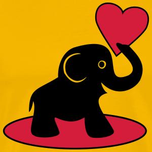 """Shirts mit Tier-Motiv """"Elefant mit Herz"""""""