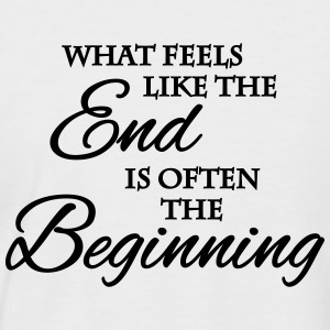 What feels like the end... T-Shirts - Men's Baseball T-Shirt