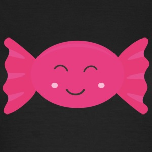 Pink candy med smil T-shirts - Dame-T-shirt