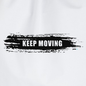 Keep moving Pinselstrich - Turnbeutel