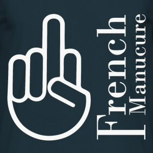 T shirt bleu m homme Humour the French Manucure - T-shirt Homme