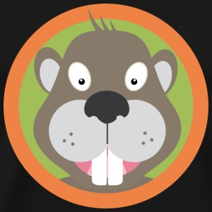 Sweet Beaver head with Orange County T-Shirts - Men's Premium T-Shirt