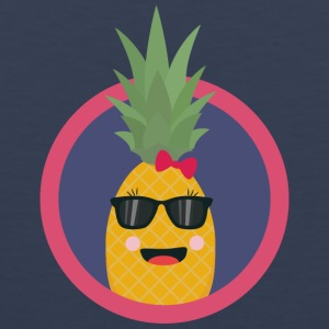 Cool pineapple with sunglasses Sports wear - Men's Premium Tank Top