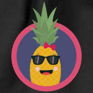 Cool pineapple with sunglasses Bags & Backpacks - Drawstring Bag