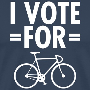 I Vote For Bicycle Camisetas - Camiseta premium hombre