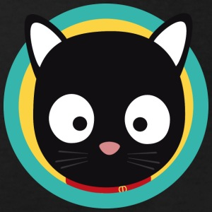 Black cat with green circle Shirts - Kids' Organic T-shirt