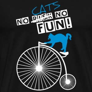NO CATS NO FUN OUTLINES2 T-Shirts - Männer Premium T-Shirt