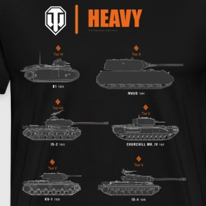 World of Tanks Heavy - T-shirt Premium Homme