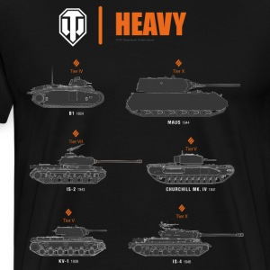 World of Tanks Heavy - Koszulka męska Premium