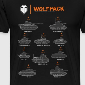 World of Tanks Wolfpack - Herre premium T-shirt
