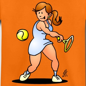 Tennis girl hitting a backhand Shirts - Kids' Premium T-Shirt