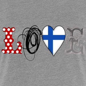 Love Finland Black - Frauen Premium T-Shirt