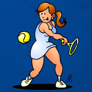 Tennis girl hitting a backhand Bags & Backpacks - Retro Bag