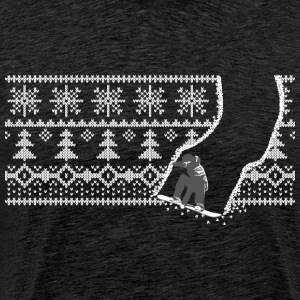 Snowboard pattern - Men's Premium T-Shirt
