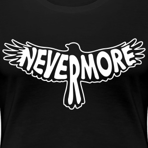Nevermore Outline 2C - Frauen Premium T-Shirt