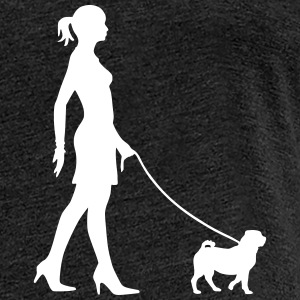 Walking the Dog - Pug - Frauen Premium T-Shirt