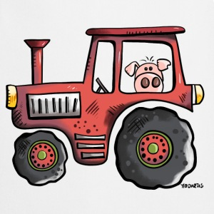 Pig driving a tractor  Aprons - Cooking Apron