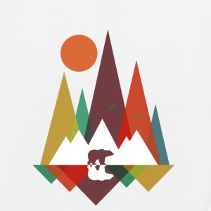 White Bear in the mountains Bags & Backpacks - EarthPositive Tote Bag
