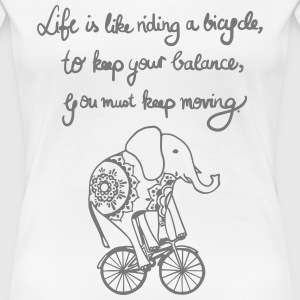 Elephant on Bike - Frauen Premium T-Shirt