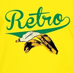 The Retro Banana - Männer Kontrast-T-Shirt