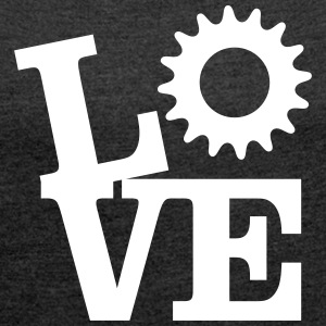Love Bicycles T-Shirts - Women's T-shirt with rolled up sleeves
